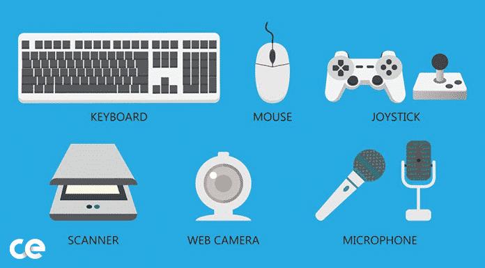 computer input devices list hindi